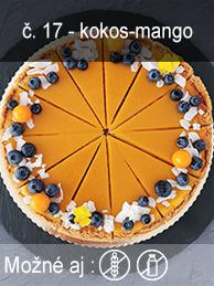 Kokos-mango cheesecake