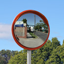24 inch high visibility traffic mirror