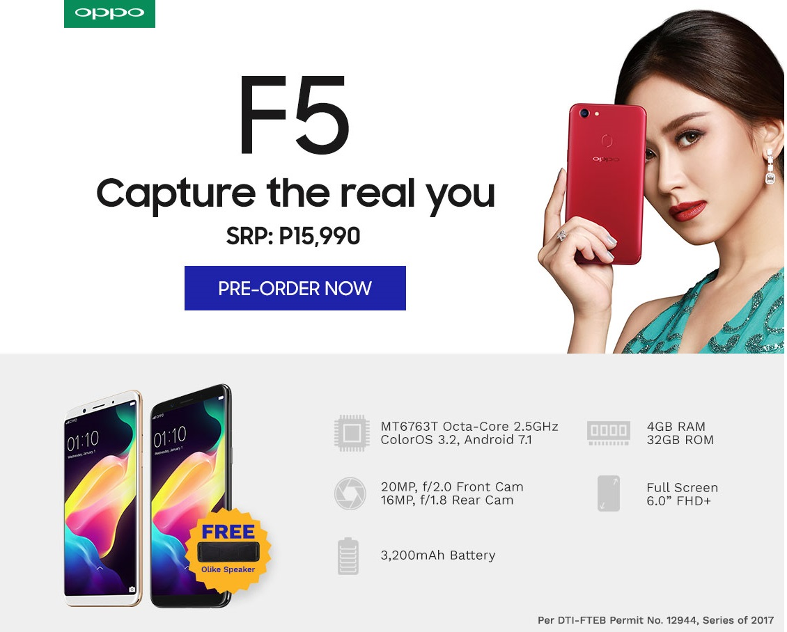Oppo F5 Preorder