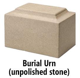 Stone burial urn